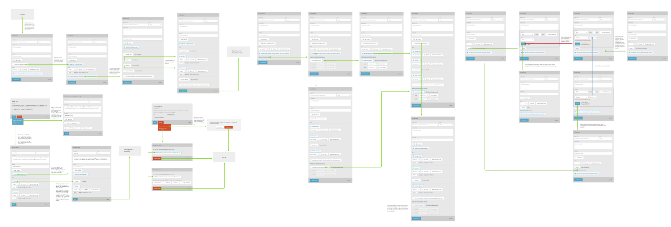 wireframes for assessments